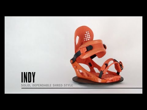 K2 Indy Snowboard Bindings - Red