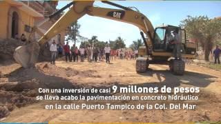Arrancan obras por casi 9 millones de pesos en la colonia Del Mar