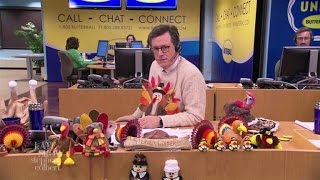Stephen Colbert Mans The Butterball Turkey-Talk Line (Outtakes Part 1)
