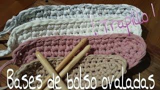 Bases De Trapillo Ovaladas.! Tutorial DIY Crochet.XXL