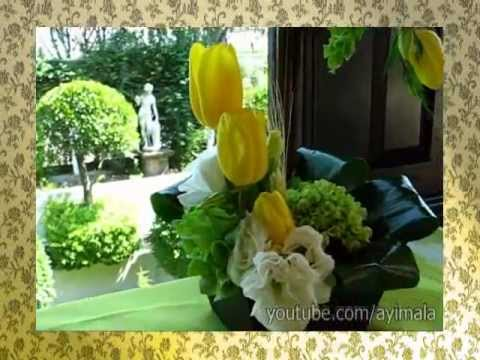 Centros de Mesa Para Bautizo con Tulipanes y Dulcero - Ayimala.com