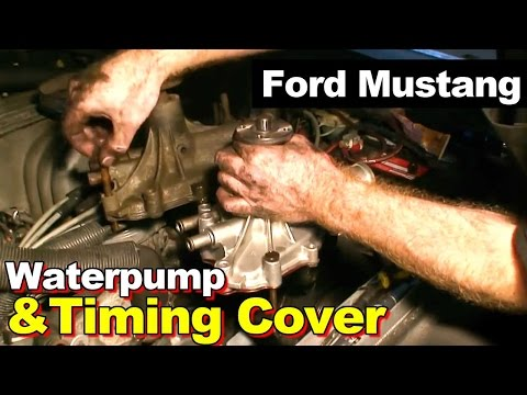 1989 Ford Mustang 5.0 302 Timing Cover Gasket and Water Pump Repair