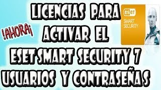 Licencias Para El Antivirus Eset Smart Security 7