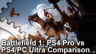 Battlefield 1 - PS4 Pro vs PS4/PC Ultra Graphics Comparison
