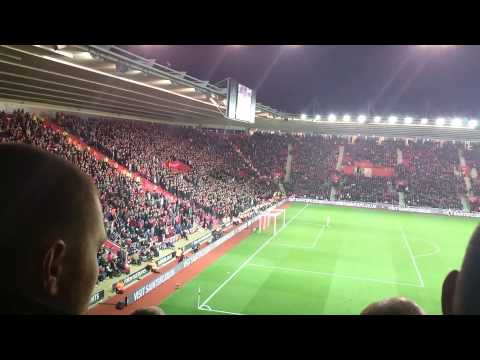 Southampton vs Liverpool chants + goal