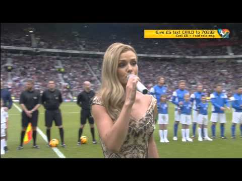 Katherine Jenkins - Interview and Abide With Me at Soccer Aid 2014