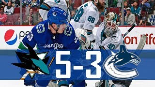 Canucks vs Sharks | Highlights | Mar. 17, 2018 [HD]