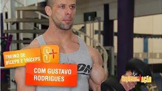 Treino de Bíceps e Tríceps com o atleta Gustavo Rodrigues
