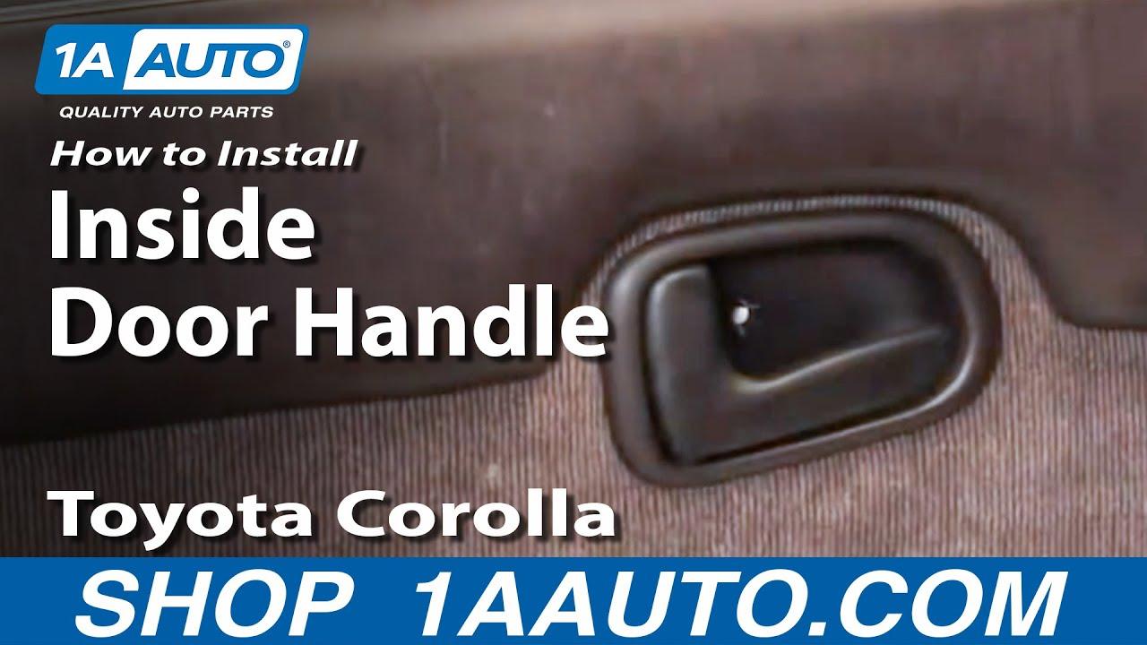 How To Install Replace Broken Inside Door Handle Toyota