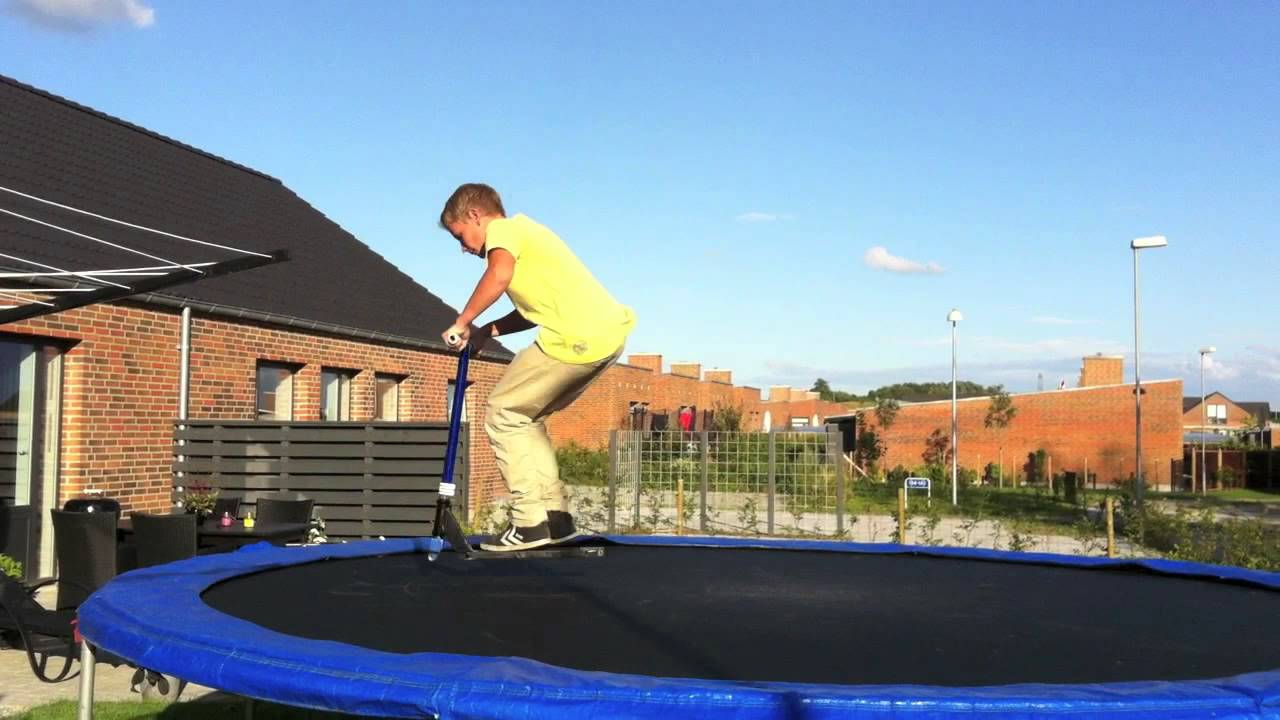 how to make a trampoline scooter