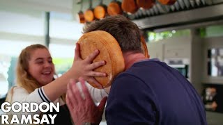 Gordon Ramsay Helps Matilda Cook A Giant Burger