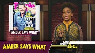 "Amber Says What: Blake Shelton Named ""Sexiest Man Alive,"" Serena Williams' Wedding"