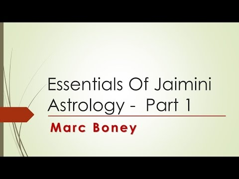 Essentials of Jaimini Astrology - Part 1