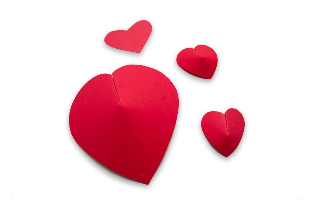 Como hacer corazones de papel en 3d para san valentin o for Como hacer mi casa en 3d