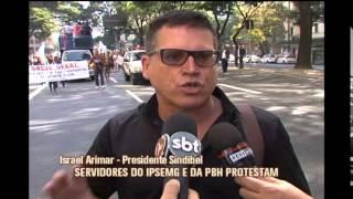Servidores do IPSEMG e da PBH protestam