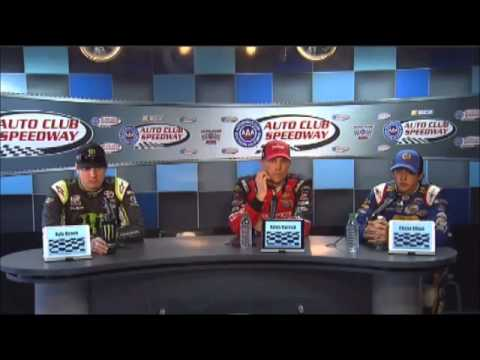 Kevin Harvick - Kyle Busch - Chase Elliott California NNS Post-Race Video News Conference