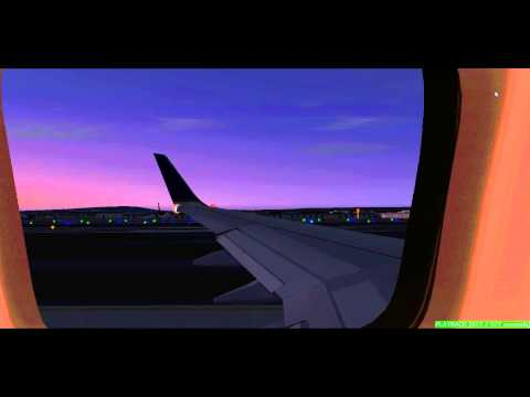 FS2004 United 737-900 landing in Phoenix