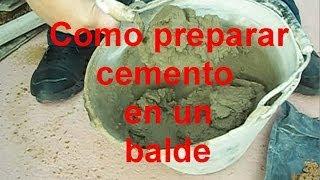 Preparar Cemento en el balde