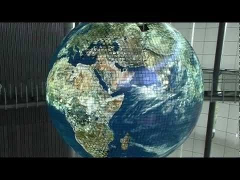 Giant Globe OLED Display Geo-Cosmos