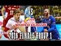 Poland vs France World League THRILLER 2016 Finals Group 1 FULL MATCH BREAKS REMOVED