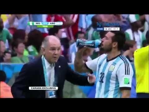 Lavezzi se burla de Sabella   Argentina 3   Nigeria 2   Brasil 2014
