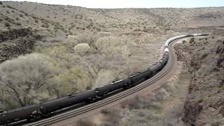 BNSF Mixed Freight In Crozier Canyon, AZ