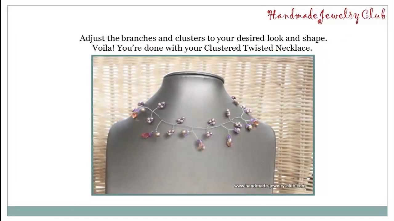 Diy wire twisting clustered twisted necklace free video for Step by step wire jewelry subscription