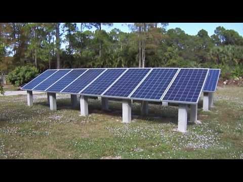 Grid Tie Solar System With Microinverters.