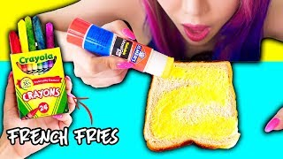 10 Pranks With Edible School Supplies! Back To School Prank Wars!