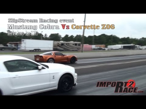 Mustang Cobra Vs Corvette Z06 So who won this race? (close race)