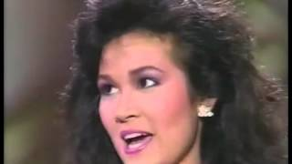 Miss Universe 1988: Semi-Finalist Interview Miss Thailand
