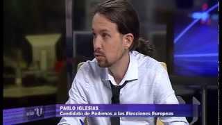 Entrevista A Pablo Iglesias En Vía V (V Televisión