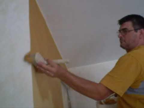 Decorare pareti pittura dorata effetto oro grezzo for Pittura vento di sabbia