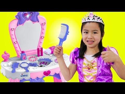 Jannie Pretend Play PRINCESS Dress Up w/ Makeup Toys