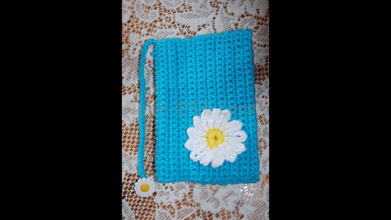 Book Cover Crochet Instructions : My very first crochet tutorial ever glama s daisy book
