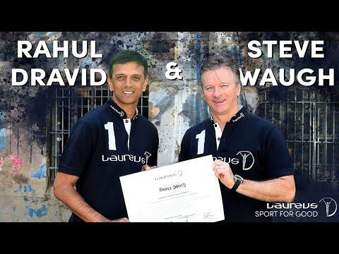 Rahul Dravid and Steve Waugh in London - Laureus Sport for Good Foundation