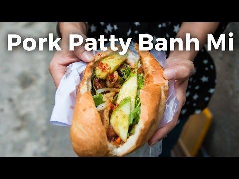 Delicious Pork Patty Banh Mi at Banh Mi 37 Nguyen Trai