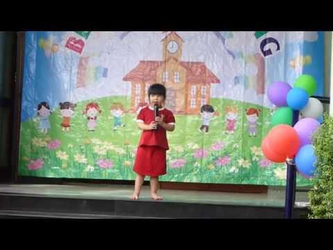 Đọc thơ BÉ ĐẾN LỚP trường mầm non Hoa Hồng Đỏ