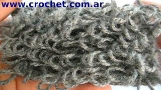 Punto Rulo O Boucle En Tejido Crochet Tutorial Paso A Paso