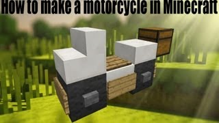Minecraft: How To Make A Motorcycle