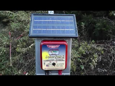 My Solar Electric Fence Setup Youtube