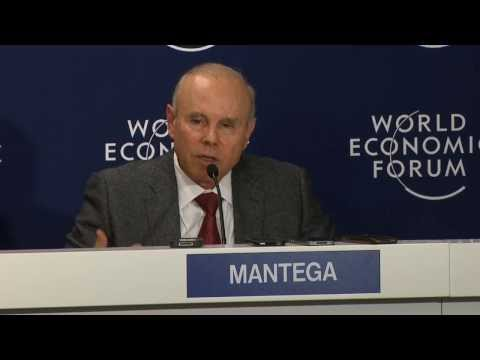 Davos 2014 - Press conference - Brazil´s Minister of Finance, Guido Mantega