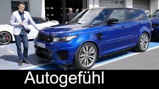 New Range Rover Sport SVR 550 hp V8 FULL REVIEW test driven Nürburgring racetrack - Autogefühl - Duration: 15:38.