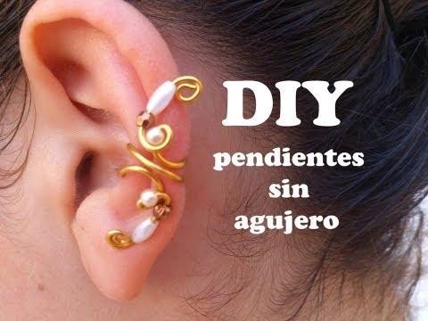 DIY Como hacer pendientes o aretes sin agujeros con alambre de aluminio. Earring, Pending