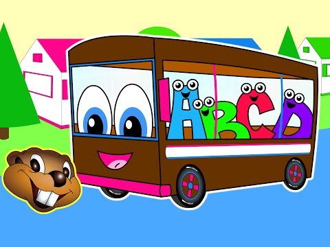 The Wheels On The Bus | Brown Bus Version | Nursery Song | Kids Videos | Chidren's Learning Rhyme