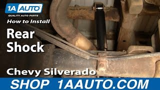 How To Install Replace Rear Shocks Chevy Silverado GMC