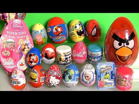 Shopkins Surprise Basket Peppa Pig Disney Frozen Elsa Kinder Princess Barbie Minecraft Harrypotter