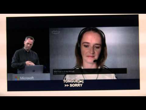 Satya Nadella Keynote (2) - Skype translate - #WPC14