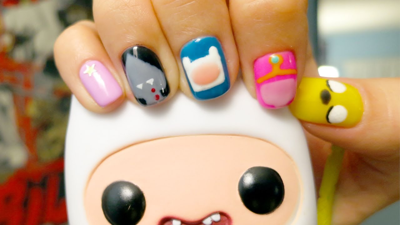 ADVENTURE TIME NAILS - YouTube