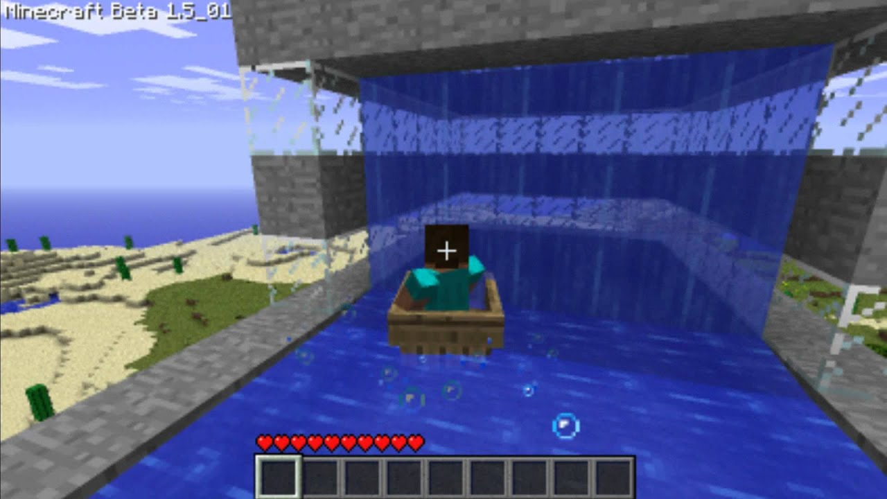 how to make a water roller coaster in minecraft pe